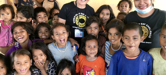 Rowena Beckenham Optometrist helping communities in Sumba