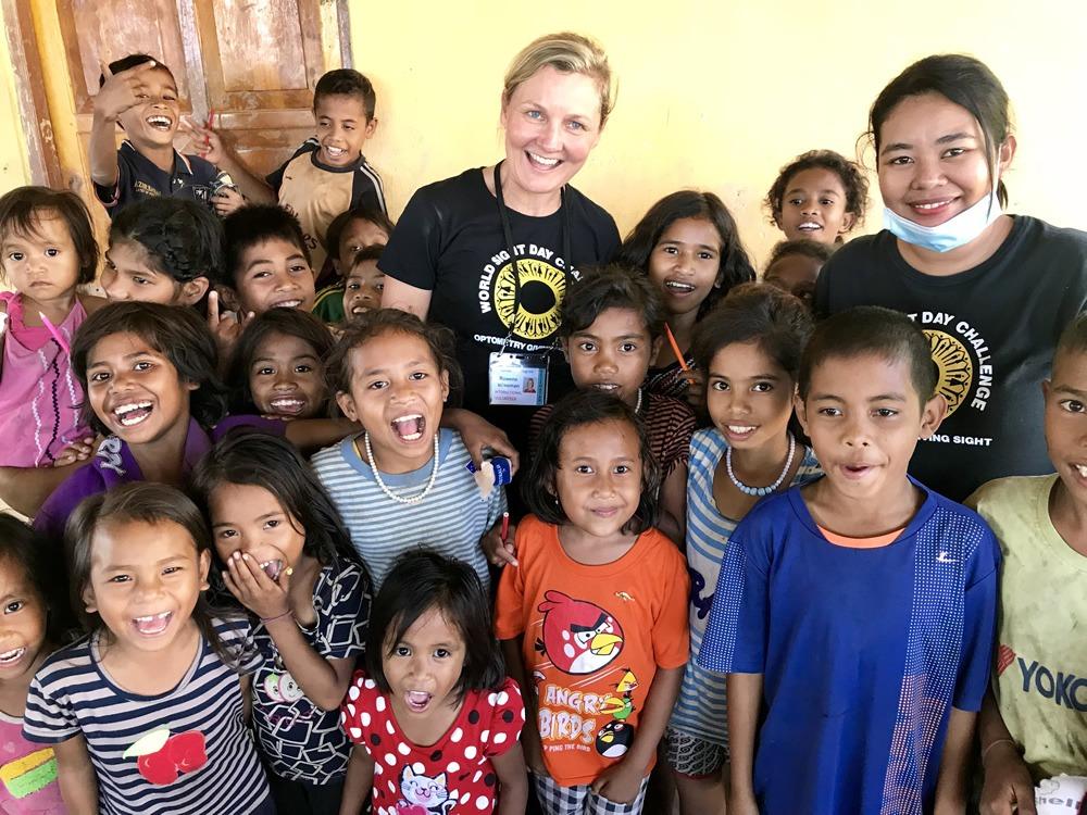 Rowena Beckenham Optometrist helping communities in Sumba